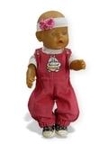 Полукомбинезон из вельвета - На кукле. Одежда для кукол, пупсов и мягких игрушек.