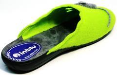 Тапочки с войлока жіночі Inblu NC- 1B Mouse Light Green