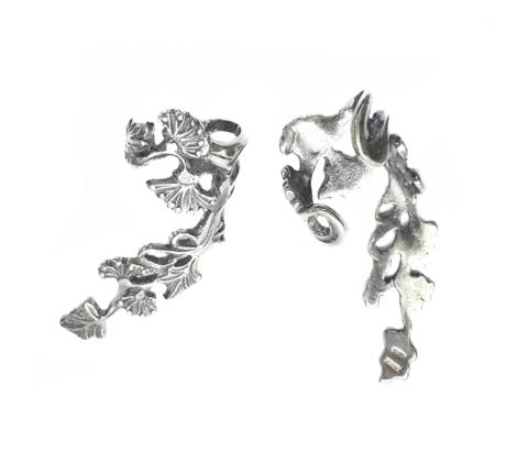 Grape Vine earrings, Sterling Silver