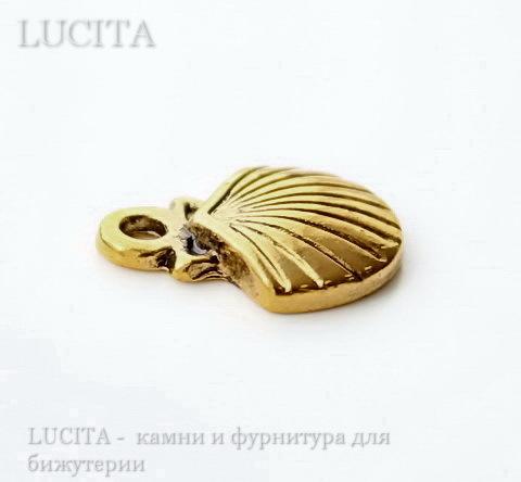 "Подвеска ""Ракушка"" 14х12 мм (цвет - античное золото)"