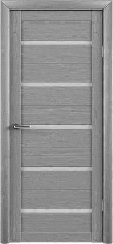 Дверь TrendDoors TDT-2, стекло матовое, цвет ясень дымчатый, остекленная