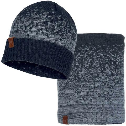 Комплект шапка-шарф Buff Valter Graphite