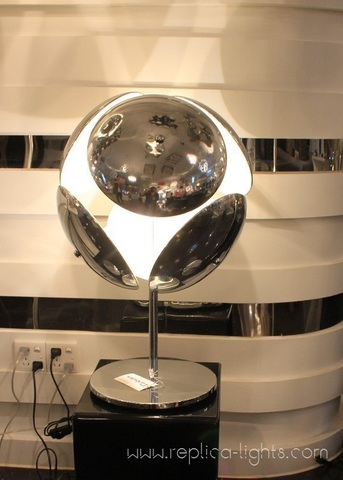 replica  bubble table lamp silver