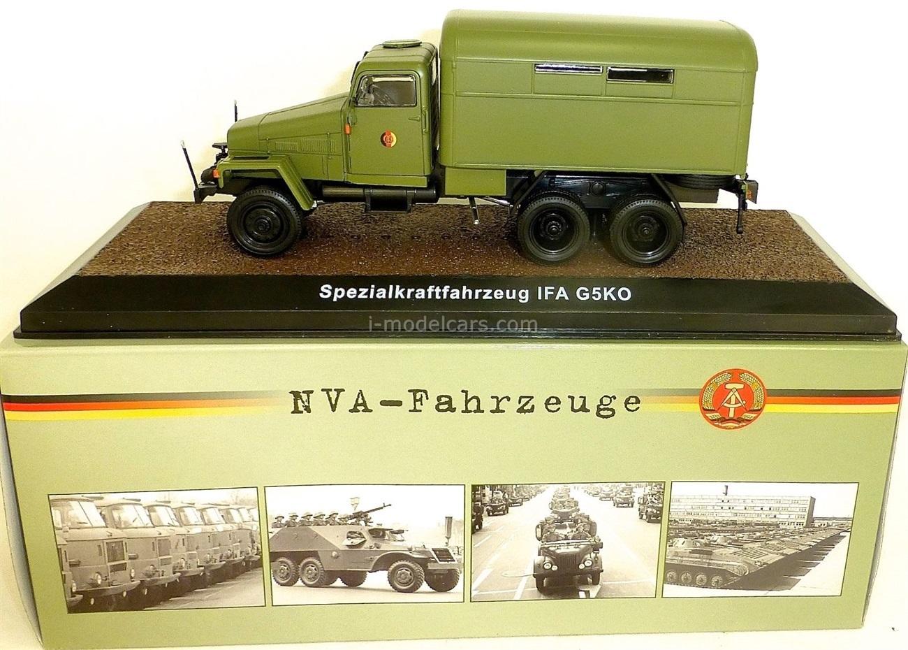 IFA G5KO NVA military dark olive Atlas 1:43