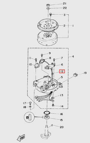 Уплотнитель для лодочного мотора T5 Sea-PRO (5-12)