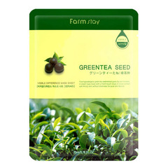 Farmstay Visible Difference Mask Sheet Green Tea Seed - Тканевая маска для лица с экстрактом семян зеленого чая