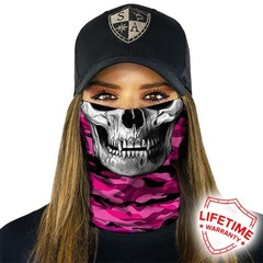 Бандана с черепом SA Pink Military Camo Skull