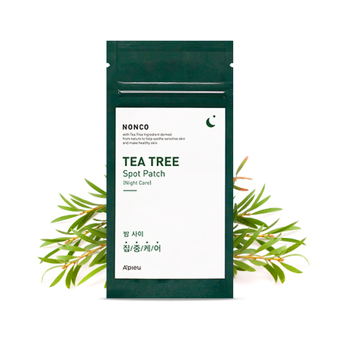 Патчи от акне A'PIEU Nonco Tea Tree Spot Patch (Night Care) 10 шт.