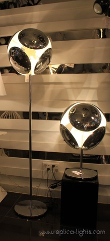 replica  bubble table lamp silver