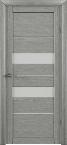 Дверь TrendDoors TDT-4, стекло матовое, цвет ясень дымчатый, остекленная