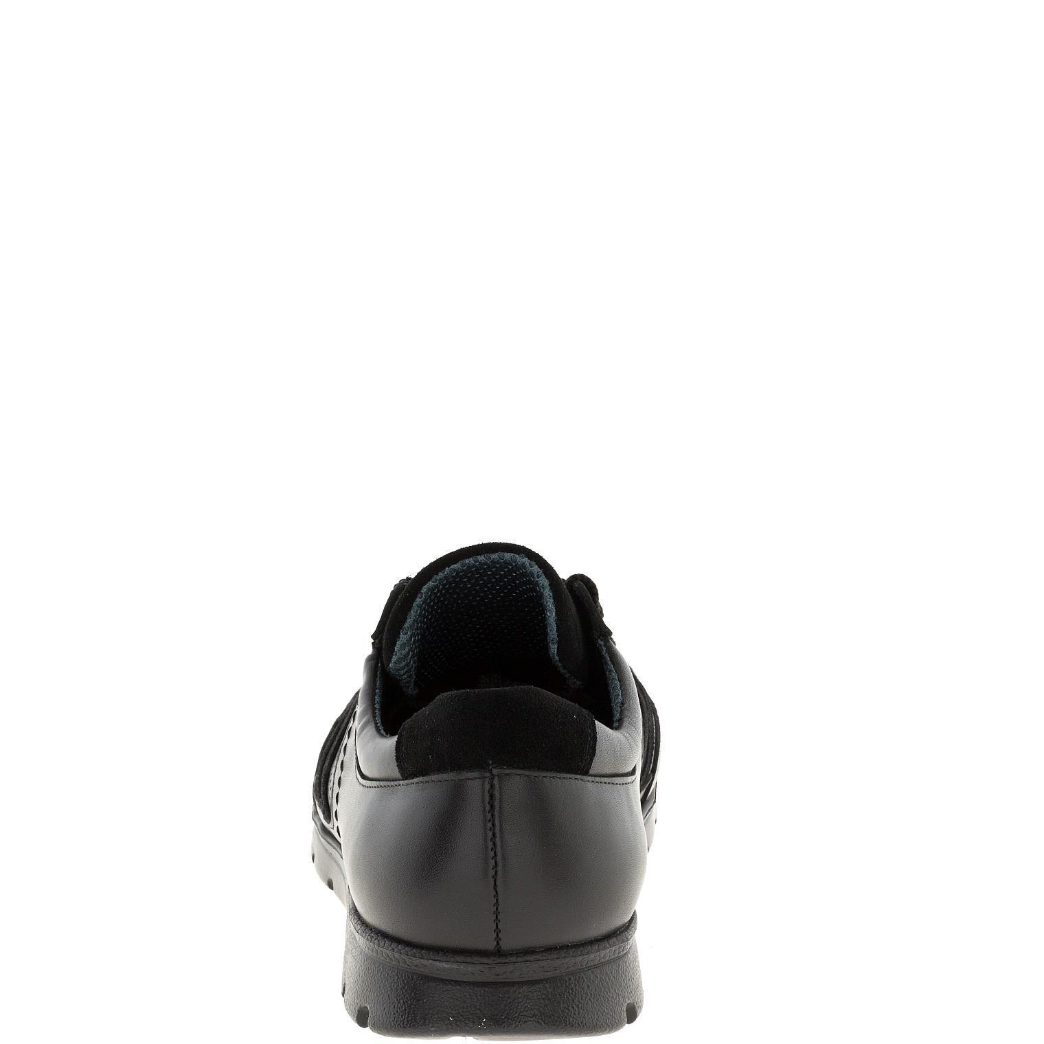589385 полуботинки мужские черные кожа больших размеров марки Делфино