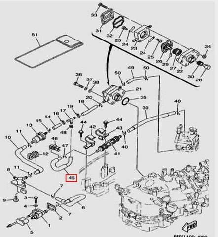Шланг для лодочного мотора F5 Sea-PRO(9-45)
