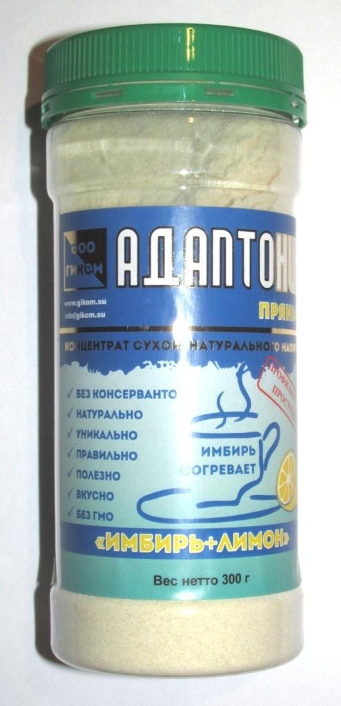 Напиток 'Адаптоник пряный 'Имбирь+лимон' 'Лионик' в ПЭТ-банке