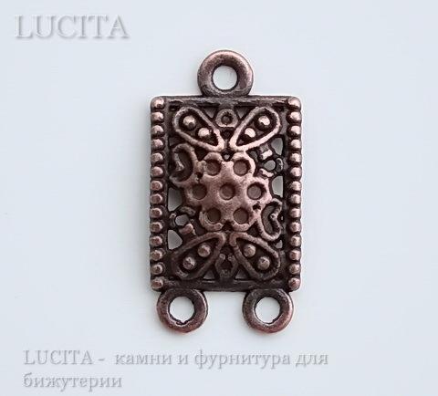 Коннектор (1-2) 23х12 мм (цвет - античная медь)