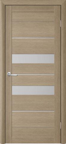 Дверь TrendDoors TDT-4, стекло матовое, цвет лиственница латте, остекленная
