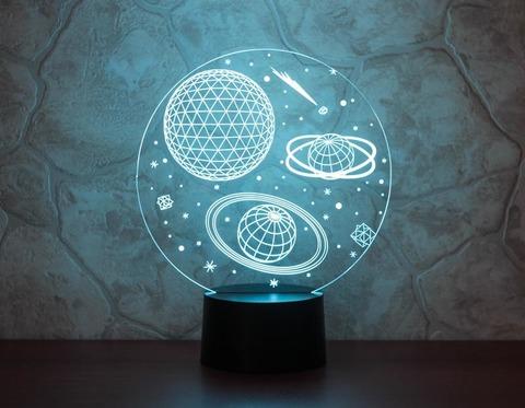 3D светильник Космос