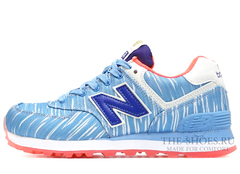 Кроссовки Женские New Balance 574 Cold Blue White Orange