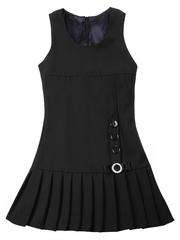 6074-1 сарафан для девочек, черный