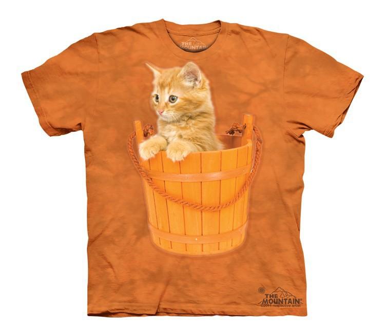 Футболка детская Mountain с изображением котенка в ведерке - Bucket Kitten