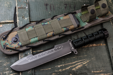 Нож выживания Survivalist X D2 Gray Titanium