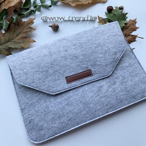 Папка конверт для MacBook Felt sleeve bag 15.4'' /gray/