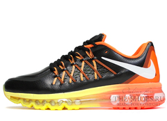 Кроссовки Мужские Nike Air Max 2015 Black Orange Yellow Leather