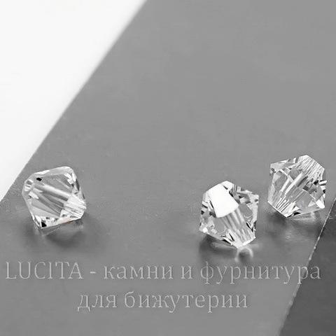 5328 Бусина - биконус Сваровски Crystal 4 мм, 10 штук (Картинка)