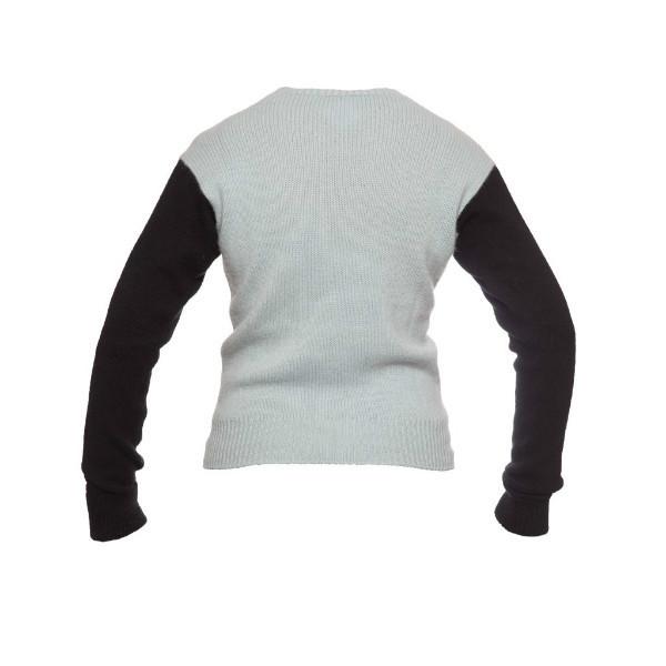 Стильный кашемировый свитер с изображением туфельки от Chanel, размер 40