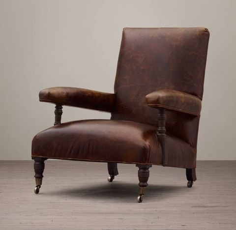 1880s Belgian Leather Club Chair