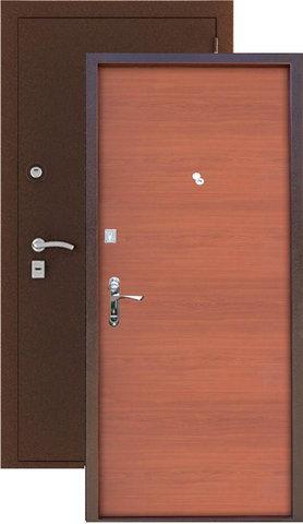 Стальная дверь Сибирь S-1, 2 замка, 1,2 мм  металл ( медь+берёза мореная)