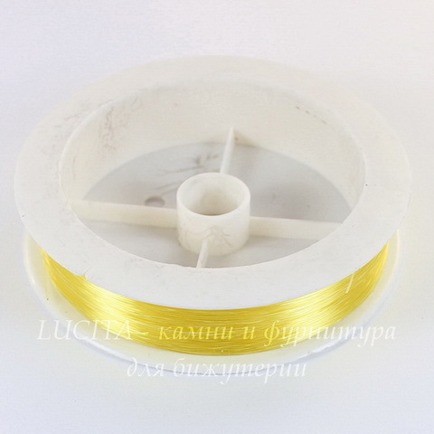 Леска для бисера и бусин, 0,3 мм, цвет - желтый, примерно 100 м
