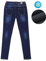HD8537 джинсы женские утепленные, синие