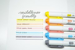 Текстовыделители Zebra Mildliner (5 шт. набор №4: Friendly Mild Colors, WKT7-N-5C)