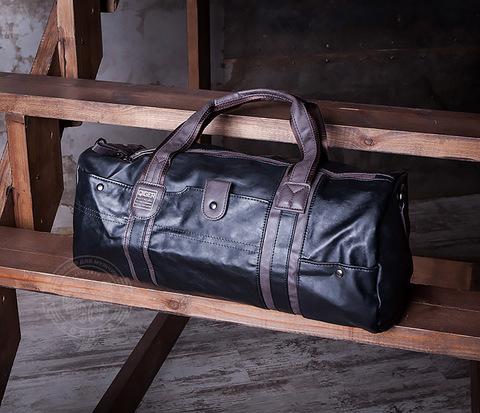 BAG408-1 Стильная мужская сумка из кожи с ремнем на плечо