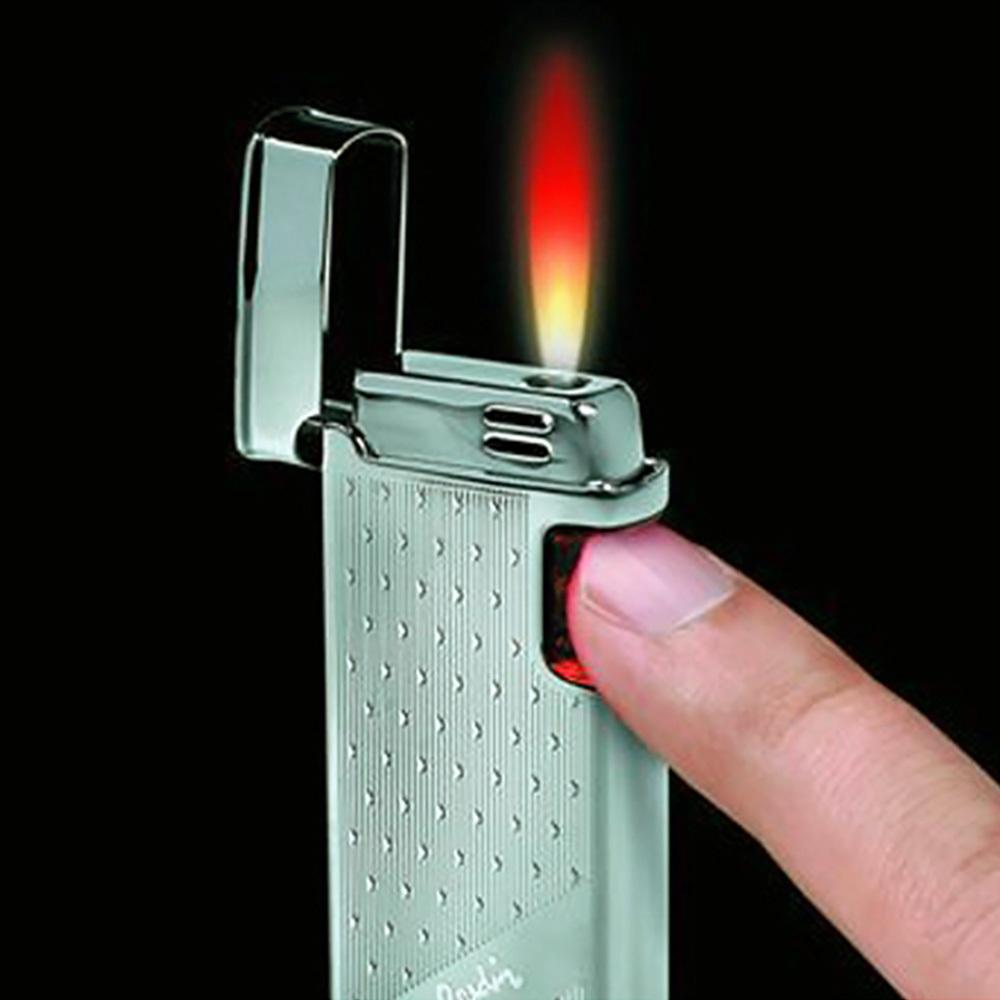 Зажигалка Pierre Cardin кремниевая газовая сенсорная, цвет хром с гравировкой, 3,1х1,4х7,3см