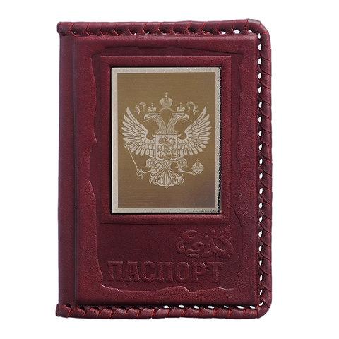 Обложка для паспорта «Патриот» коричневая