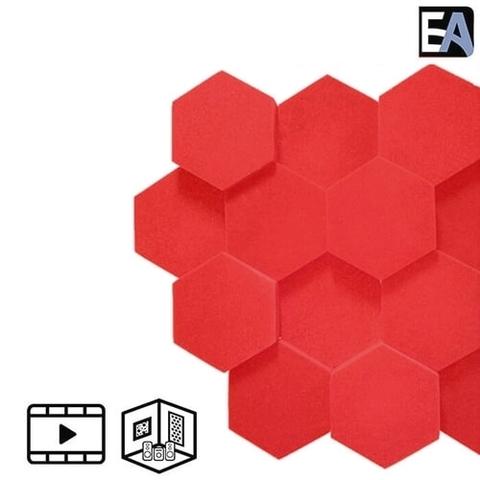 ECHO BLACK Акустический поролон Hexagon Красный