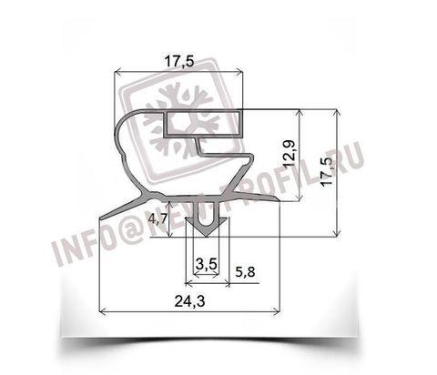 Уплотнитель 177*65 см для холодильного шкафа Sagi FD65. Профиль 018