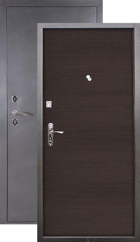 Стальная дверь Сибирь S-1, 2 замка, 1,2 мм  металл (серебро+венге)