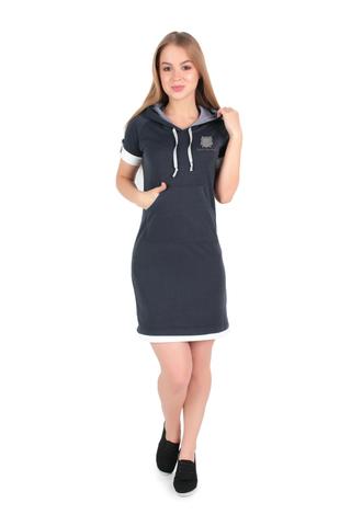 Лекала Платье с коротким рукавом и двойным капюшоном