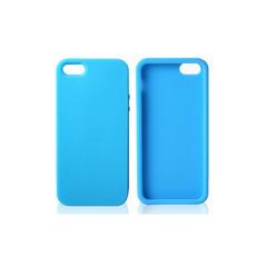 Чехол силиконовый для iPhone 4/4S ГОЛУБОЙ.