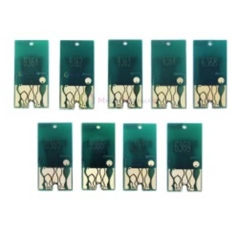 Чипы картриджей для Epson Stylus Pro 7890 и 9890 (комплект 9 цветов)