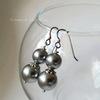 """Шапочка для бусины """"Городец"""" 8х2 мм (цвет - античное серебро), 10 штук (серьги swarovski. пример)"""
