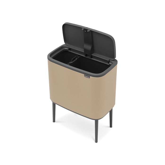 Мусорный бак Touch Bin Bo (11 л + 23 л), Минерально-золотой, арт. 316289 - фото 1