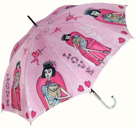 Купить онлайн Зонт-трость Perletti Chic 21194-2 Histoire d'Amour в магазине Зонтофф.