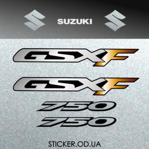 Набор наклеек на мотоцикл SUZUKI GSX-F 750 KATANA 2006
