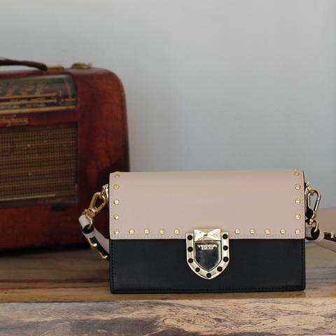 Кожаная сумка Tosca Blu Pollock Ivory, черный, Italy, фото 11