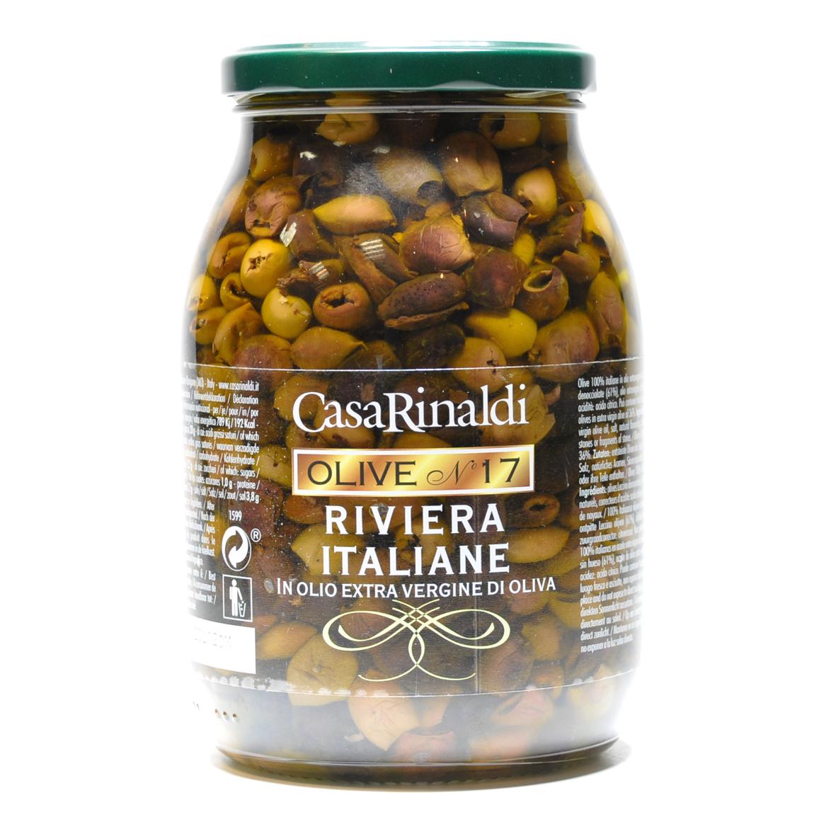 Оливки Casa Rinaldi Ривьера консервированные без косточки 900г