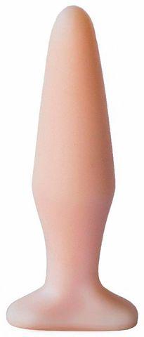 Телесная конусообразная пробка - 14 см.