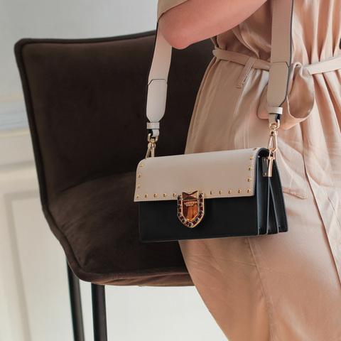 Кожаная сумка Tosca Blu Pollock Ivory, черный, Italy, фото 12